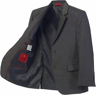 Gioberti Boys' Gray Size 16 Two-Button