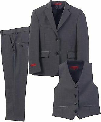boys suit charcoal gray size 16 three