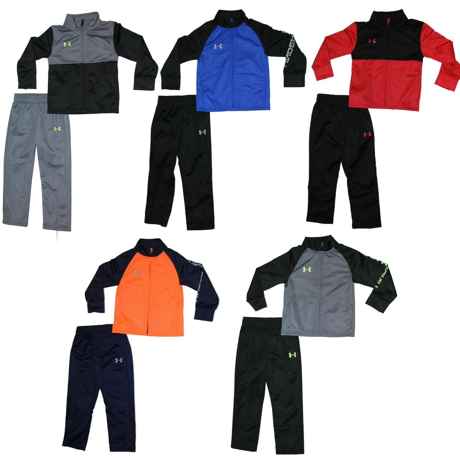 Under Armour Boys Track Suit - Jacket & Pants - 2 Piece Set