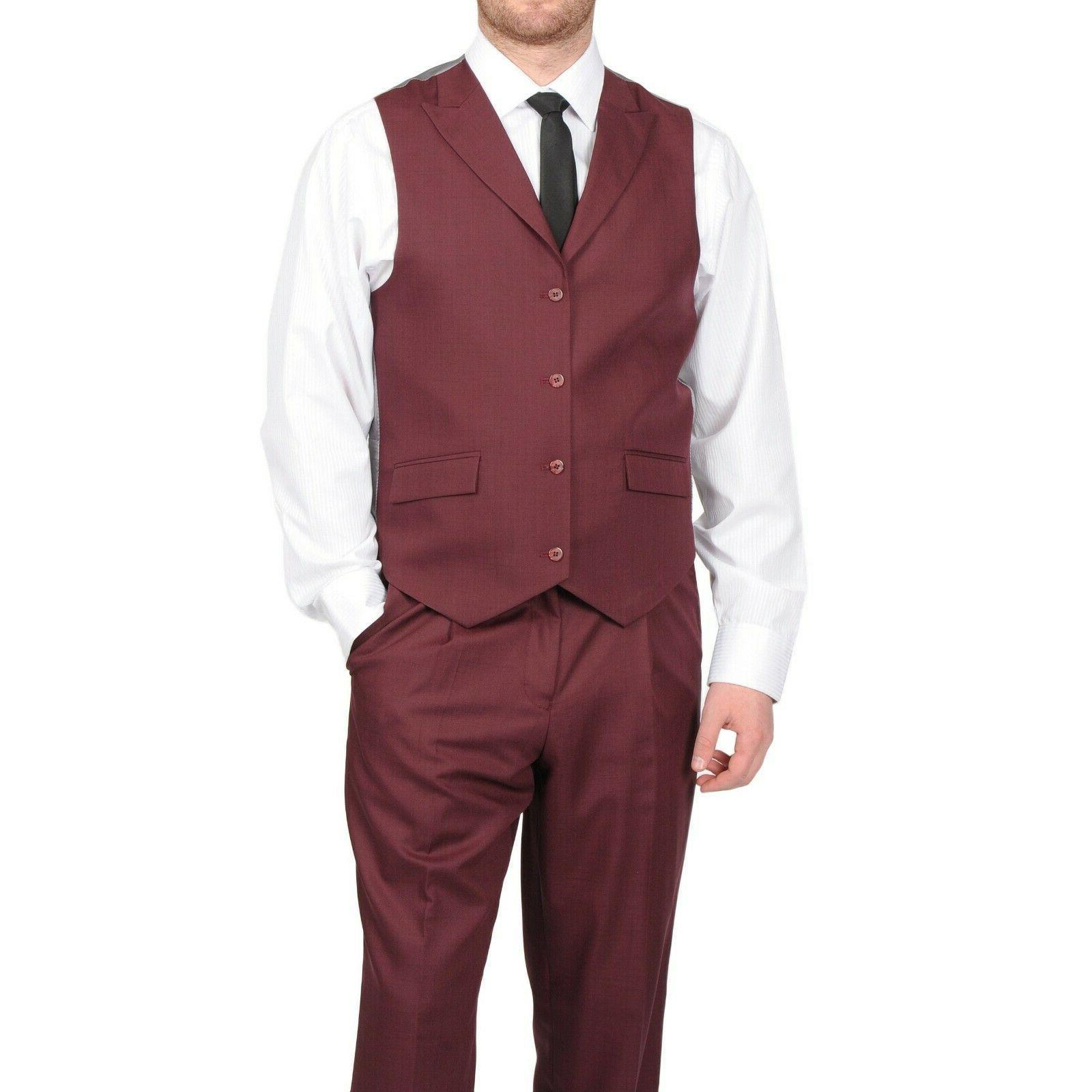 Brand Burgundy Suit 38R, 29R