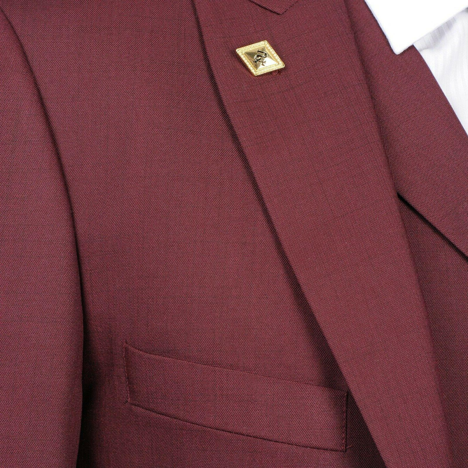 Brand New Stacy Burgundy Piece Suit- Suit 29R