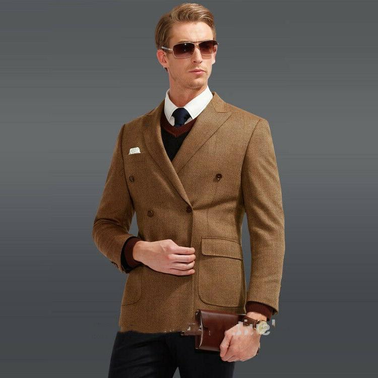 Brown Formal Men Suits Groom Tuxedos