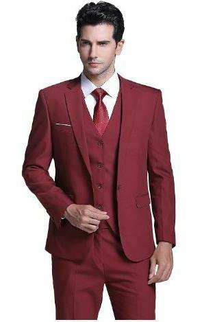 Burgandy 3 Suit and Style- Super Cheap