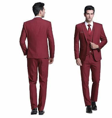 Burgandy Piece Suit and Pants- Style- Super