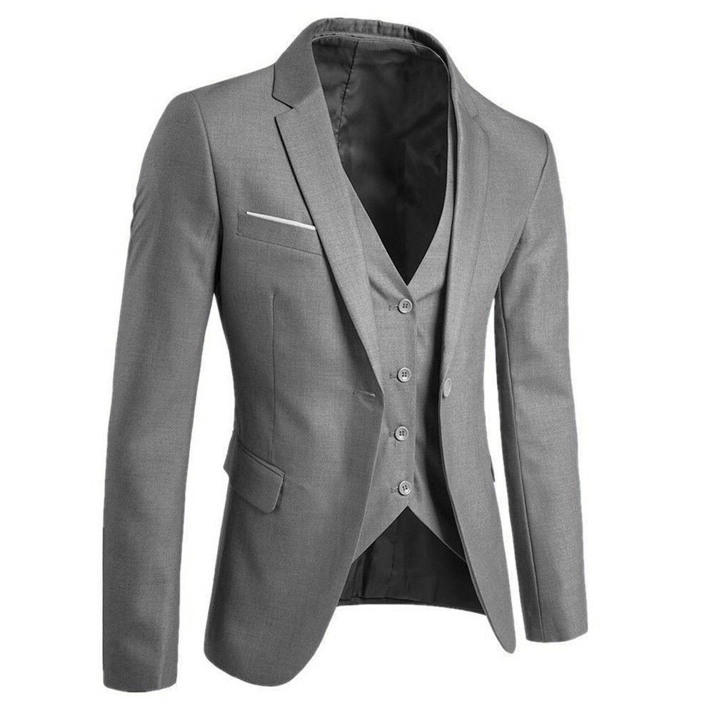 US 3-Piece Suit Blazer Business Suit Wedding &