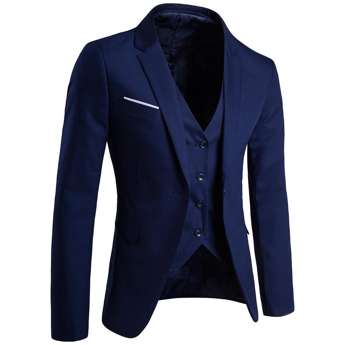 Business Suit Slim 3-Piece Blazer Party Pants