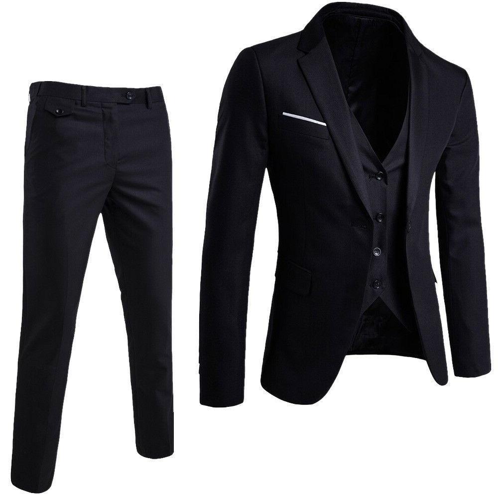 US 3-Piece Business Wedding Jacket &