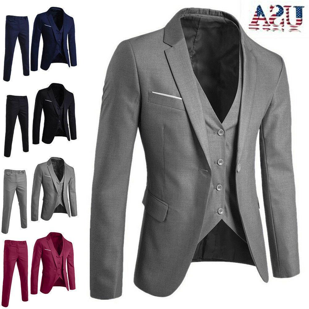 business mens suit slim 3 piece suit