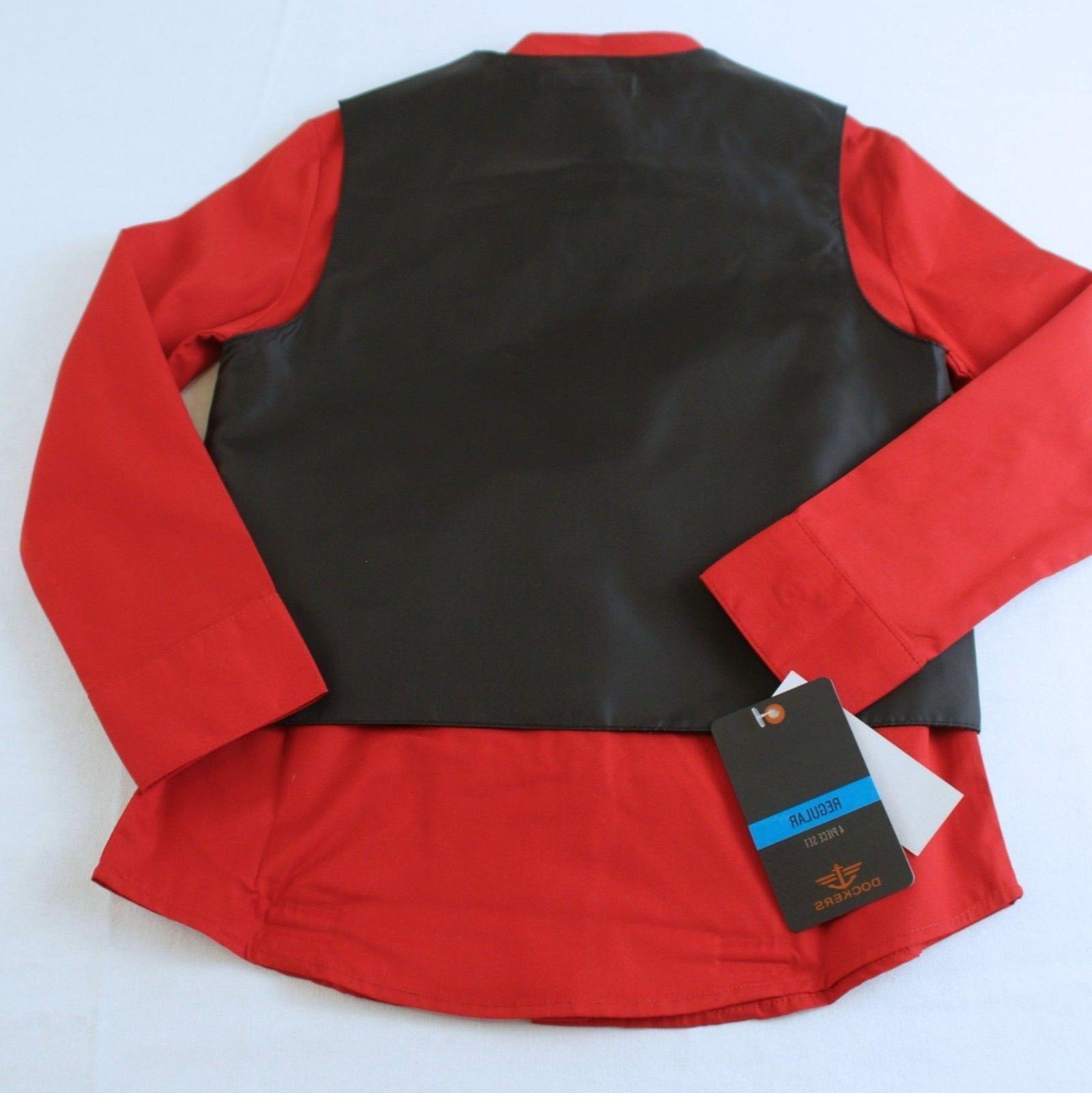 Dockers 4 Pc Suit Black Size 5 Pants Tie Vest Set