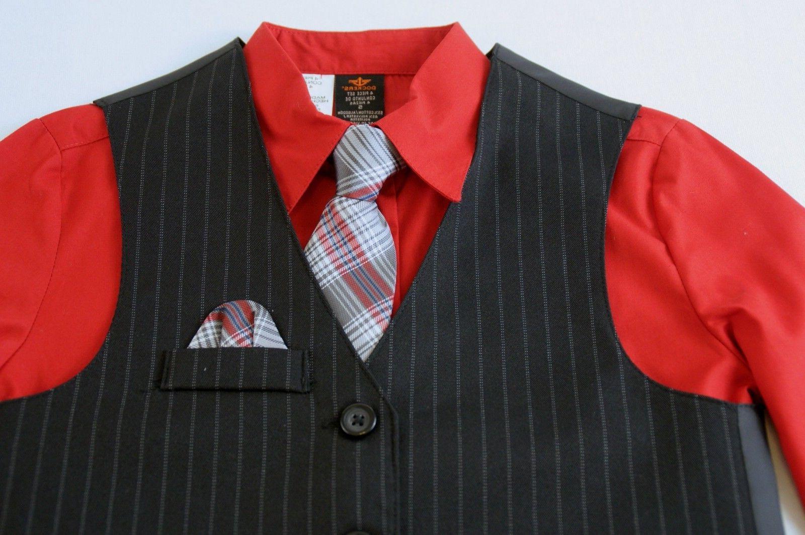 Dockers 4 Pc Black Size 5 Shirt Pants Tie