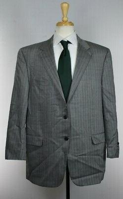 HICKEY FREEMAN For Carroll & Co Gray WOOL SUIT Working Cuffs