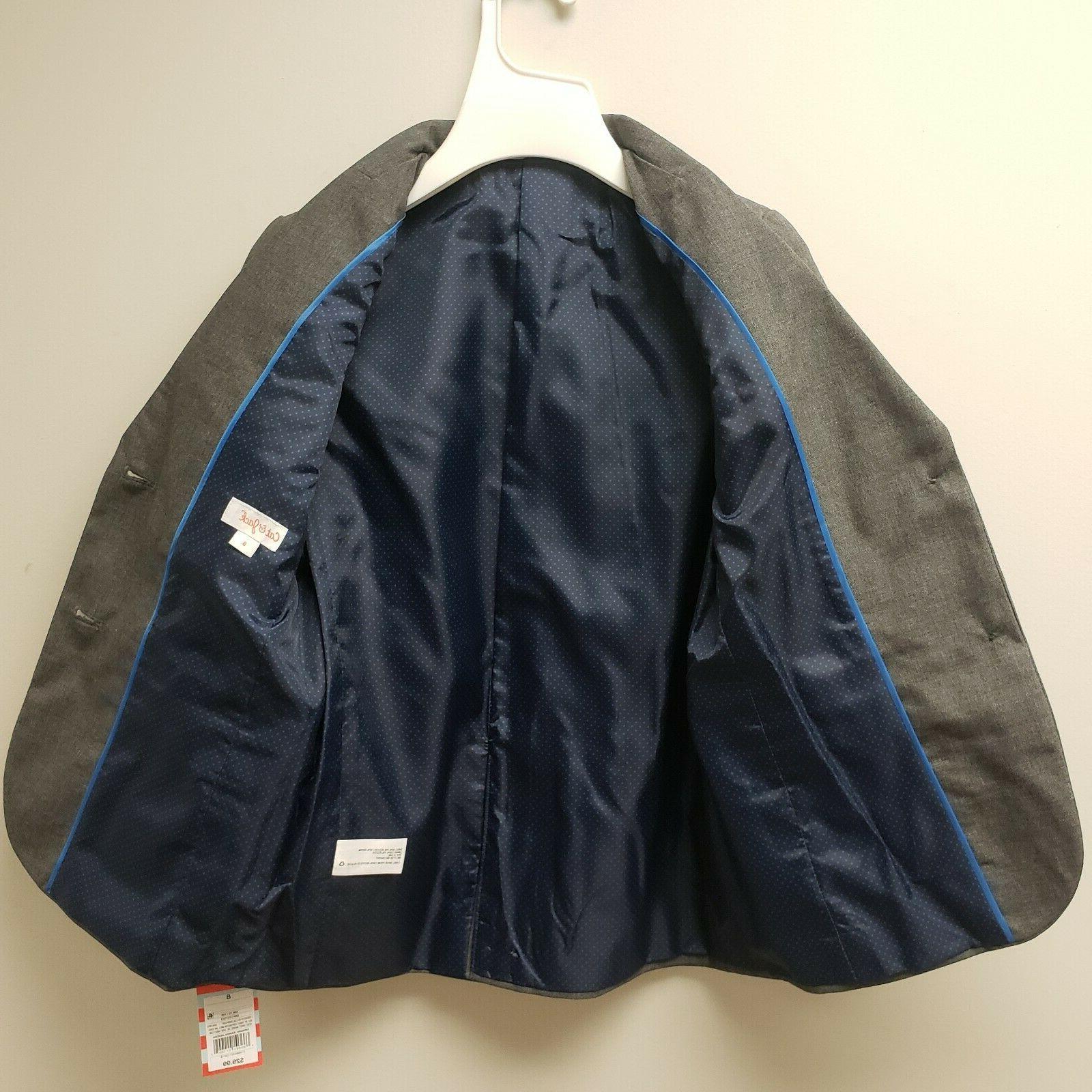 Cat & Boys Dress Suit Blazer Grey 8 NWT