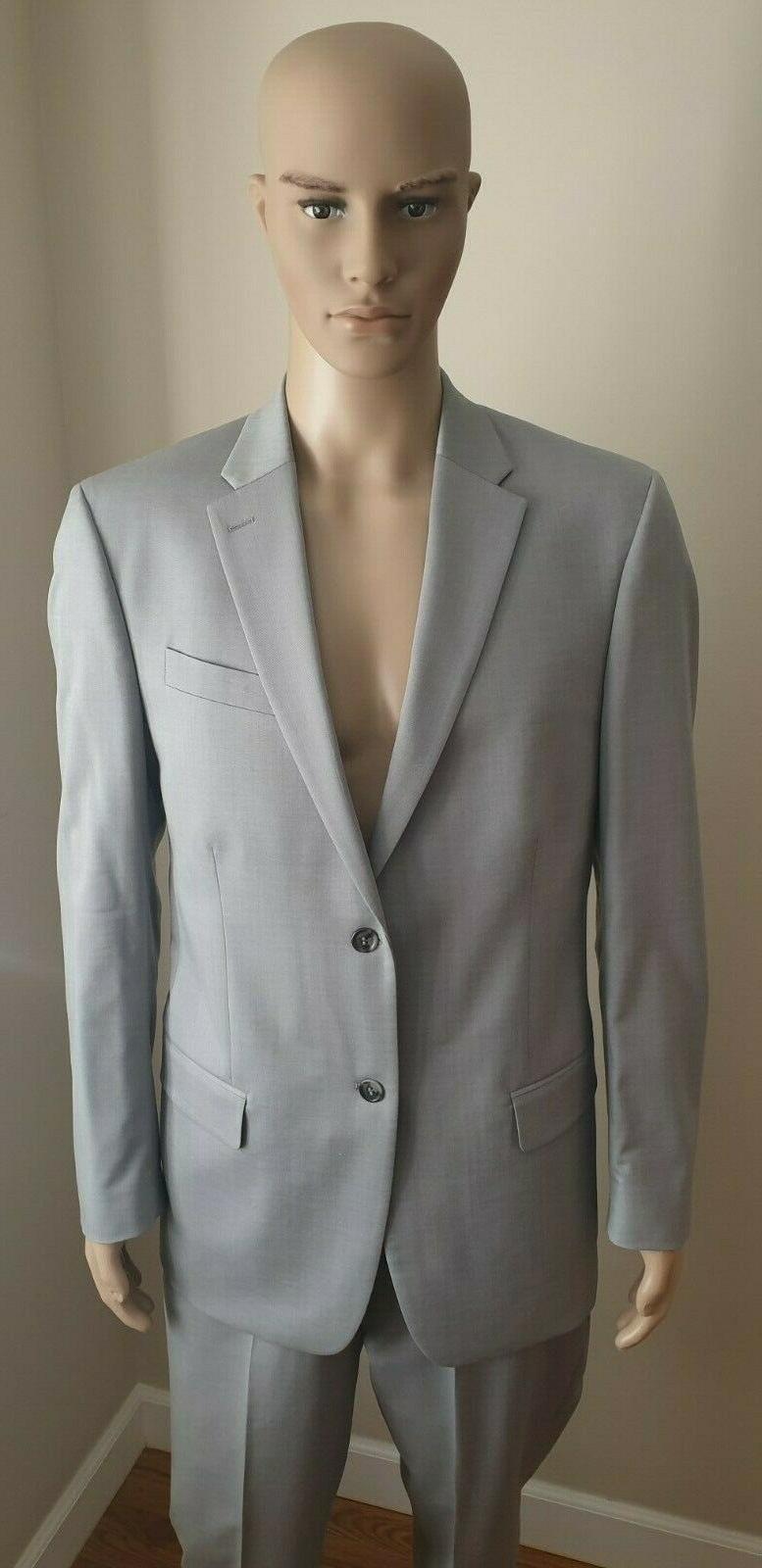 CALVIN CK Men's Dress Suit Light Gray Regular x 32 Pants NEW