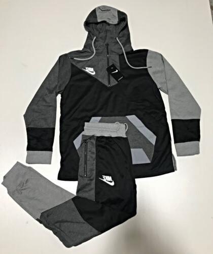 complete set joggers sweat suit zip up
