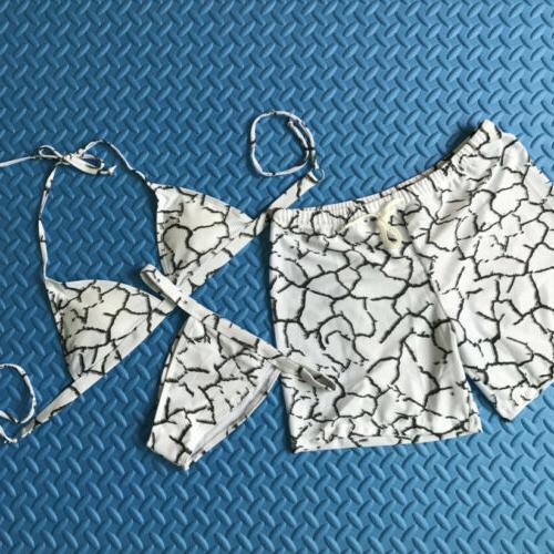 Couple Bra Bikini Swimming Trunks Lover Swimsuit