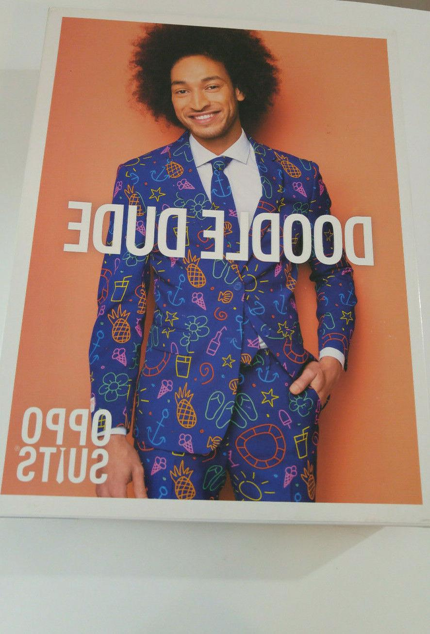 Opposuits Dude Men's Party Costume Suit 42 In Box