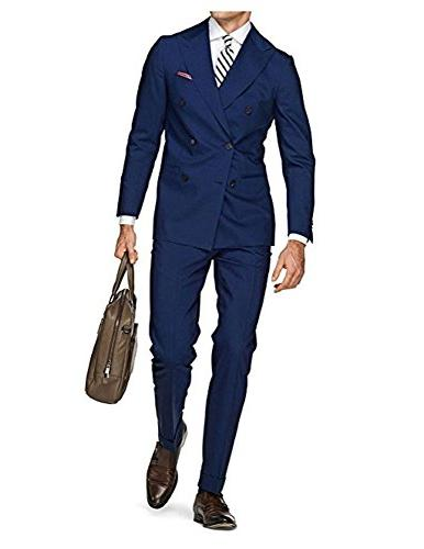 double brested blue suits notch