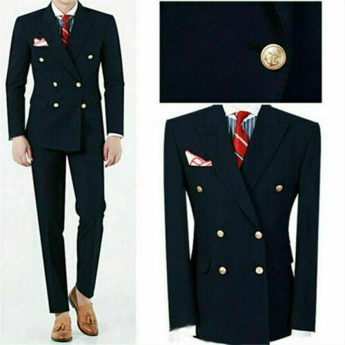 double brested navy men suits formal wedding
