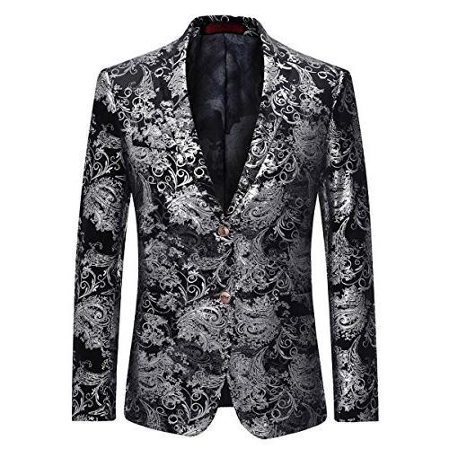 dress floral suit notched lapel
