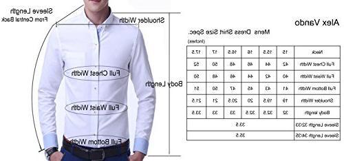 Alex Vando Shirts Solid Long Point Collar Shirt,Grey,17.5 34/35