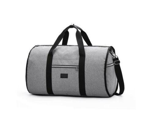Fashion 2 1 Garment Bag+Duffle Travel Portable Suit Jacket Bag
