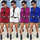 Fashion Women Business Suit 2Piece Set Short Pant Suits Free