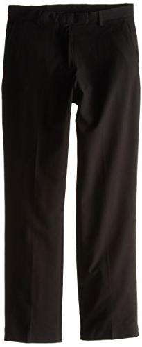 "Calvin Klein ""The Morgan"" Flat Front Dress Pants  - black, 8"