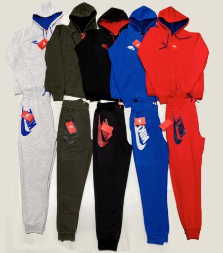 Nike Fleece Full-Zip Hoodie & Bottom Complete Set Jogger Swe