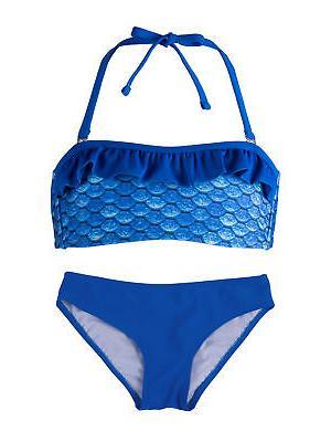 girls bandeau bikini set by swim suit