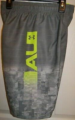 Under Armour Gray Swim Suit Trunks Swimsuit Board Shorts Boy