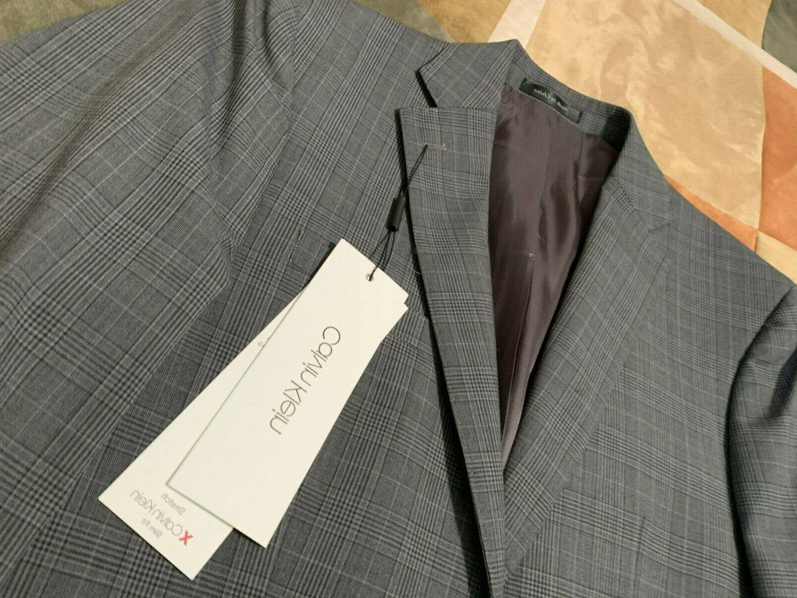 Calvin Klein grey wool sport coat blazer R
