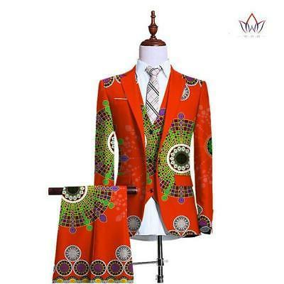 Blazers for Men 3 Piece Slim Fit Wedding Men Suit Retr