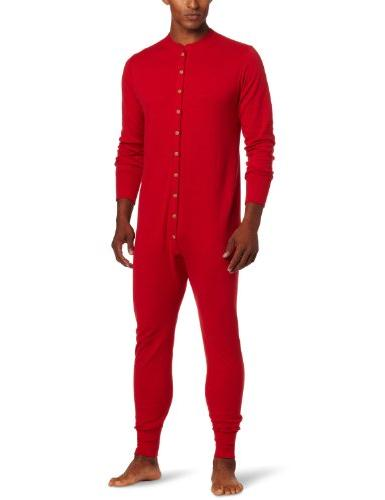 Duofold Men's Mid Weight Double Layer Thermal Union Suit, Re