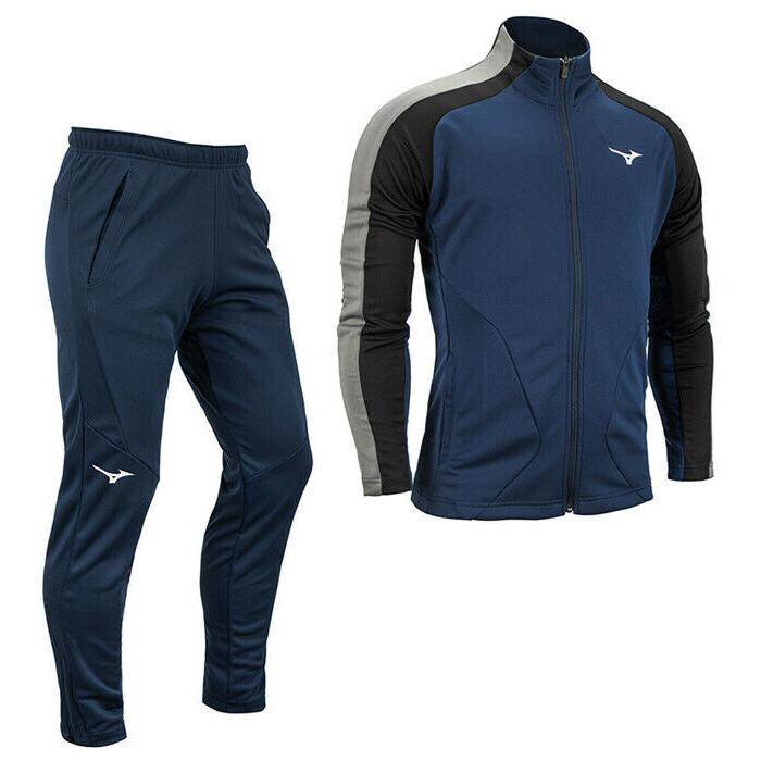 knit full zip tracksuits sets training suit