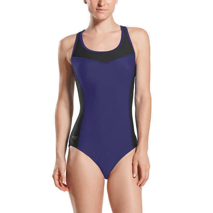 ladies colorblock swimsuit size xl 16 18