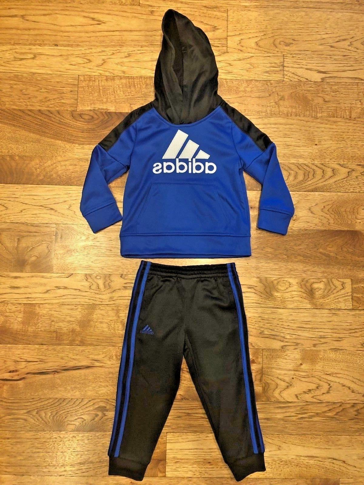 little boys hoodie and 3 stripe jogger