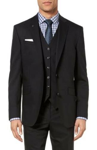 london endurance jones black wool suit 42l