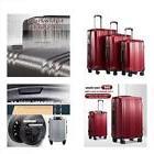 Coolife Luggage Expandable Suitcase 3 Piece Set With TSA Loc