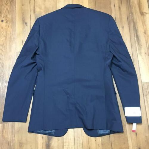 CALVIN KLEIN MALBIN Blue Suit Jacket Mens 40L NEW