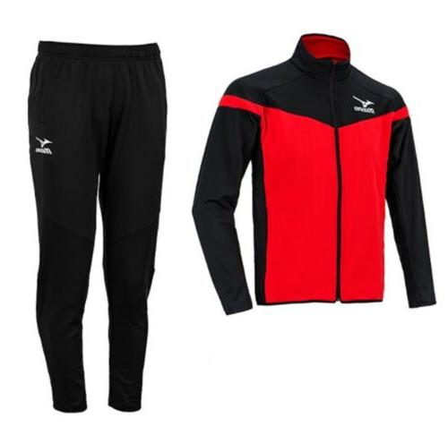 Suit Black Gray Red Soccer Jacket Pant