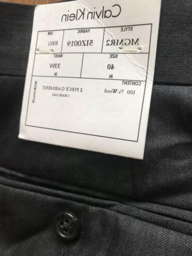 Calvin piece Suit / 33W Flat Pant NWT