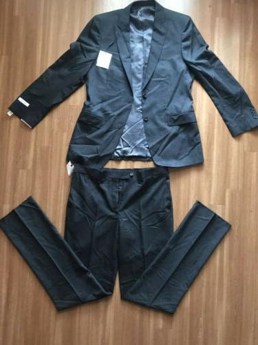 Calvin Men's piece Slim-Fit Dark Suit 40R /