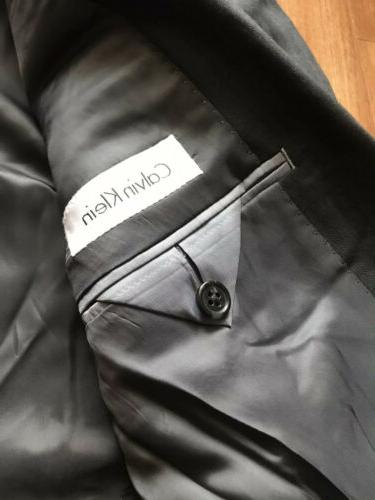 Calvin Klein piece Slim-Fit Dark Suit Flat Pant NWT