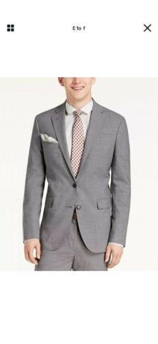 Cole Haan Men'S 44r Slim Fit Wool Suit Gray Suit Separate Pa