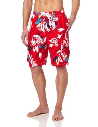 men s barracuda swim trunk oahu red