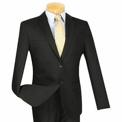 men s black 2 button extreme slim