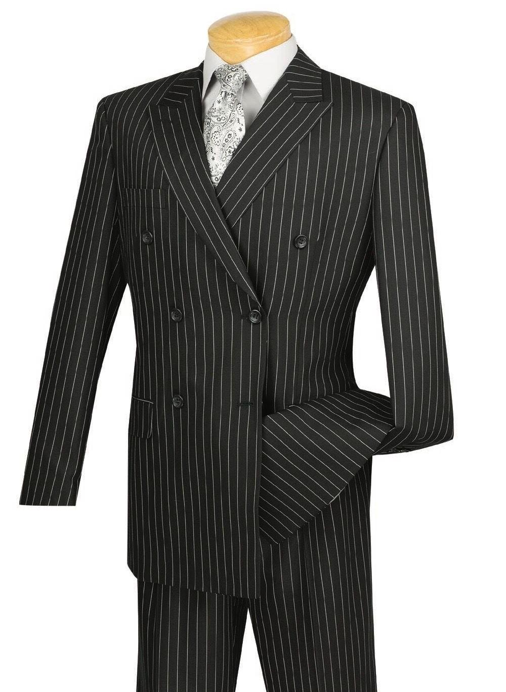 VINCI Men's Double Breasted Classic Fit