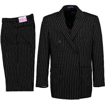 VINCI Black Double Breasted 6 Classic Fit NEW