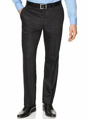 Calvin Klein Striped 2 Button Wool Suit Front Pants