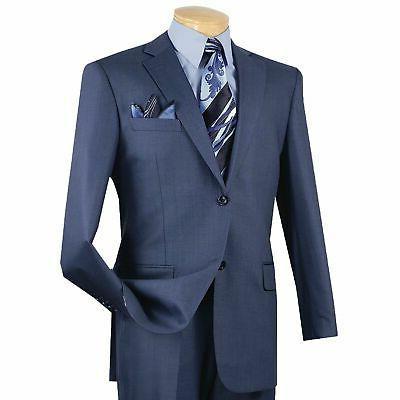 men s blue textured solid 2 button